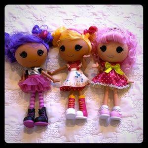 Lalaloopsy Dolls set of 3
